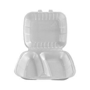 Pojemnik obiadowy styropianowy (menubox) II-dzielny HUHTAMAKI Nowa Generacja op. 160 sztuk