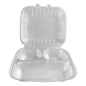 Pojemnik obiadowy styropianowy (menubox) trójdzielny HUHTAMAKI Nowa Generacja op. 160 sztuk