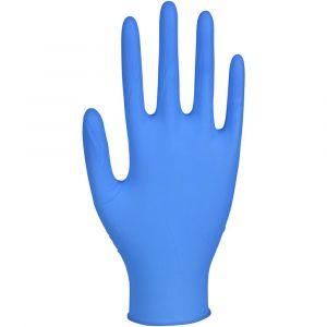 Rękawiczki nitryle niebieskie -200szt XL GlovTEC- Blue bezpudrowe (k/10)