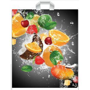 Reusable bags 39x45cm Fruit with handle, 50pcs(k/10) 35 µm
