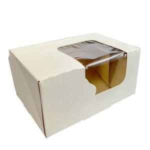 Pudełko 16,5x11x8cm biało/białe -OKNO
