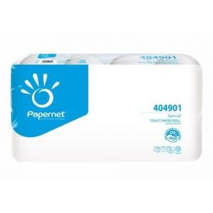 Toilet paper PAPERNET, snow-white, 3 layers, price per pack 8 rolls