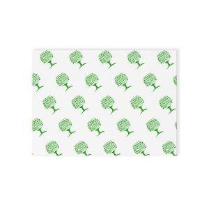 Papier pergamin Green Tree 430x350mm VEGWARE biały z nadrukiem, op. 1000 arkuszy