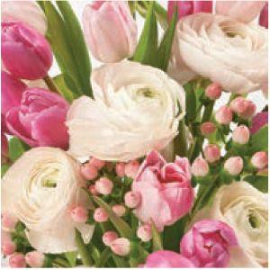 Serwetki 33x33 MAKI WIOSNA 0063 01 Pastel Pink Flowers op.20szt (12)