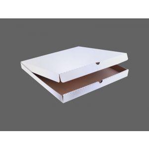 Pudełka pizza 22x22cm op.100szt pr.rogi Biało-szara Fala E TnP