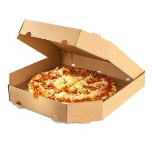 Pudełka pizza 45x45cm op.50szt śc.rogi h=4cm, szaro-szara fala B TnP