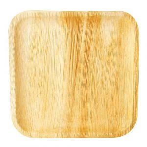 Talerz PURE z liści palmowych kwadratowy 250x250xh.19 mm op. 25 sztuk