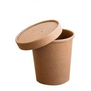 Pojemnik papierowy Kraft zupa 450ml fi 97mm, op. 25 szt. (k/20)