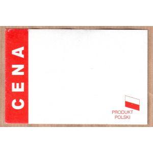 Cena kartonikowa czerwona PRODUKT POLSKI 6x9cm, opakowanie 100szt