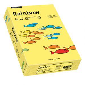 Papier ksero A4 RAINBOW R16 żółty intensywny, 88042343, 80g