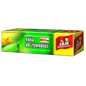 Folia do żywności PE 0,3/300m Jan Niezbędny z plastikowym nożykiem