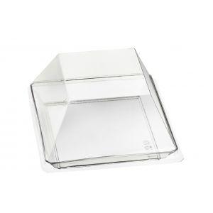 Quartz - talerzyk kwadratowy PS transp. op. 200szt., 130x130x17mm, wielokrotnego użytku (k/1)