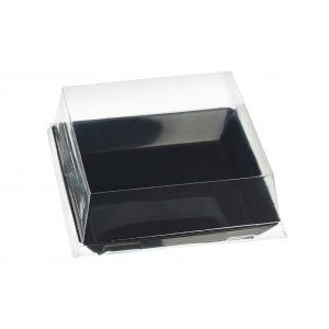 Quartz - talerzyk kwadratowy PS czarny op. 200szt., 100x100x17mm, wielokrotnego użytku (k/1)
