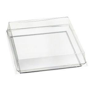 Quartz - talerzyk kwadratowy PS transp. op. 200szt., 100x100x17 mm, wielokrotnego użytku (k/1)