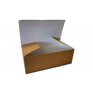 Pudełko kurczak, brązowy, bez nadruku, 150x100x80 mm, op. 100 sztuk