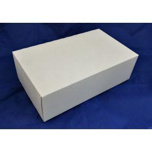 Pudełko cukiernicze 25x15x8 biało/brązowe BEZ OKNA op. 50 sztuk