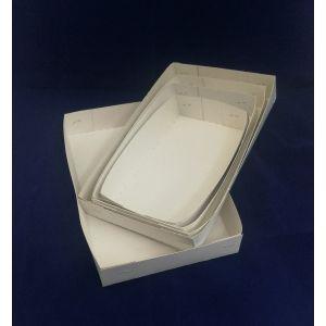 Pudełko białe-słupek op. 125 sztuk