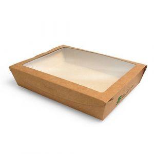 Pudełko brązowe sałatkowe 1000ml 180x130x45mm PURE biodegradowalne op. 40 sztuk
