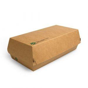 Pudełko Hot-Dog 22x10,5x7,5cm PURE biodegradowalne op. 25 sztuk
