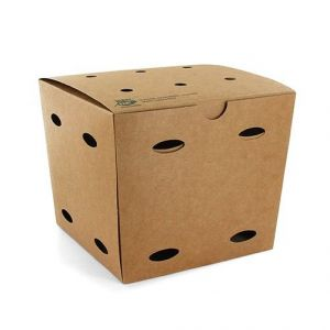 Pudełko KURCZAK BOX duży 145x145x140mm PURE biodegradowalne op. 50 sztuk