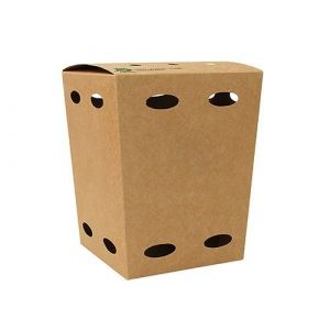 Pudełko KURCZAK BOX mały 105x105x150mm PURE biodegradowalne op. 50 sztuk
