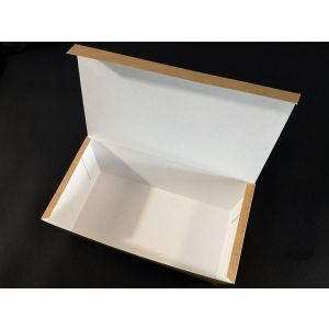 Pudełko KURCZAK duży BRĄZOWY 220x120x75, bez nadruku TnG op. 100 sztuk