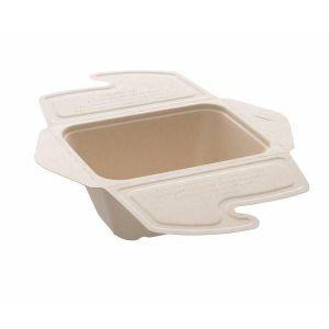 BePulp Meal Box To Go 750ml op.100szt (k/2) 17x13x7cm, Sabert
