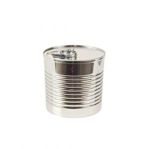 "FINGERFOOD - puszka 220ml  metalizowana  ""Tin can"" 7,4x7 srebrna op. 12 sztuk"