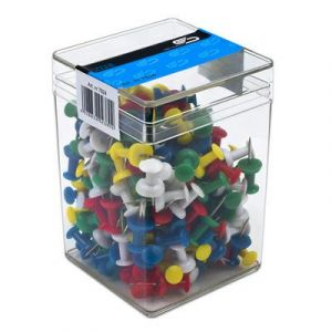 Pinezki tablicowe, beczułki E&D PLASTIC 99200 op. 200 sztuk