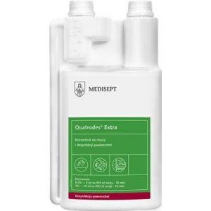 MEDISEPT Quatrodes EXTRA dezynfekcja 1L Koncentrat do dezynfekcji i mycia nieinwazyjnych wyrobów medycznych