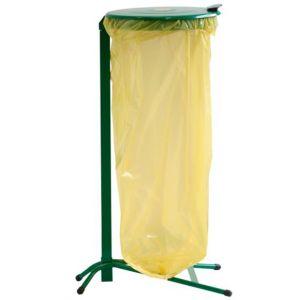 Stojak na worek 120/160l z pokrywą zielony