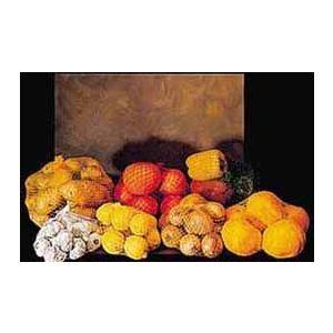 Rękaw dziany siatkowy 38cm/100m na warzywa i owoce kolor: biały