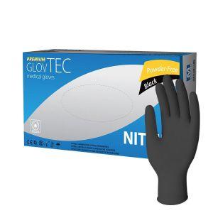 Rękawiczki nitryle czarne GlovTEC XS Premium Black bezpudrowe op. 100 sztuk