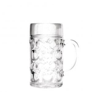 Kufel do piwa transparentny, 500 ml, SAN, 6 szt. w opakowaniu