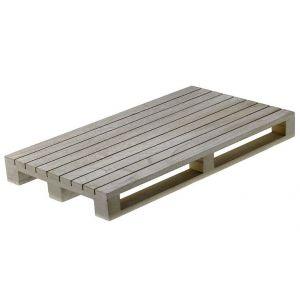 Mini-paleta drewniana 40 x 15 x 3,5 bielona