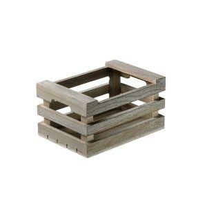 Mini - skrzynka drewniana 25x17x10 biała