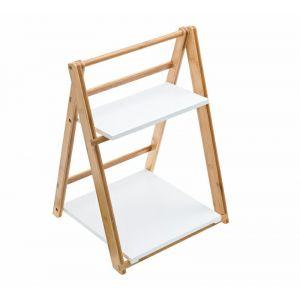 Stand bufetowy Alzatina bambus naturalny biały, 31,5x34xh.50