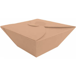 BIO FOOD BOX 1000ml brązowy op.50szt 17x17cm, biodegradowalne (k/4) SALAD BOX TnG