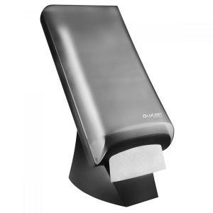 LUCART dispenser for napkins TableTop N4 standing, black-grey