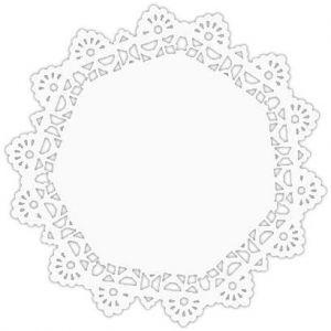 Serwety białe tłuszczoodporne 23 cm, cena za op. 250szt.