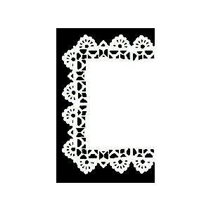 Serwety białe, tłuszczoodporne, kwadratowe, PP, 25x25 cm, op. 250 sztuk