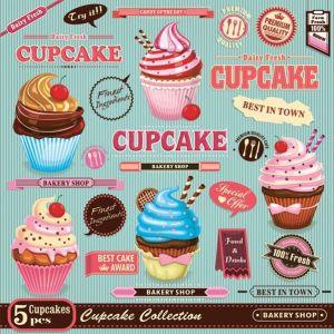 Serwetki 33x33 MAKI OGÓLNE Muffiny 0341 01 Vintage Cupcake Poster op. 20 sztuk