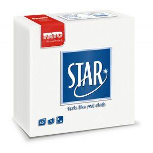 Serwetki 38x38 2W PUNTA FATO białe FATO Star op. 40 sztuk