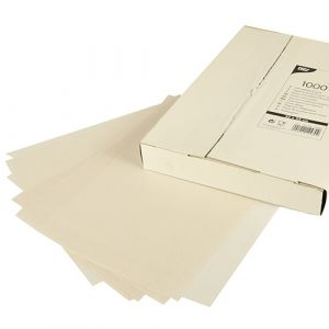 Tłuszczo szczelny papier pakowy, 32 cm x 22 cm, biały, cena za opakowanie 1000 arkuszy