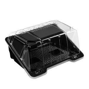 SL BL1510 pojemnik cukierniczy op.360szt rPET, czarny spód, 175x136x75mm