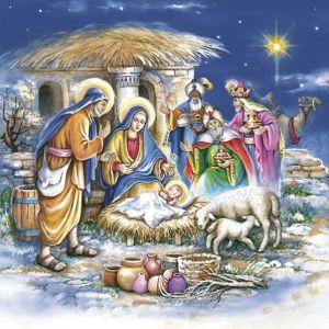 Serwetki 33x33 MAKI GWIAZDKA 0212 01 Holy Family op. 20 sztuk