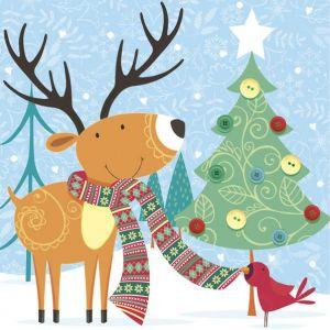 Serwetki 33x33 MAKI GWIAZDKA 0215 01 Happy Reindeer op. 20 sztuk