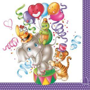 Serwetki 33x33 MAKI OGÓLNE 0309 01 Party Animals op.20szt (12)