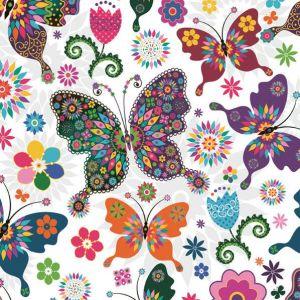 Serwetki 33x33 MAKI OGÓLNE 0317 01 Stained Glass Butterfly op.20szt (12)