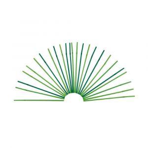 Słomki łamane PLA 5mm/240mm, mix jasno-ciemno zielone op. 500 sztuk